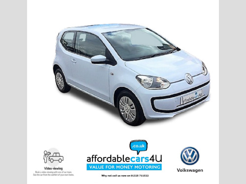 Volkswagen up!  1.0 Move Up 3dr**£20 ROAD TAX**LOW INS GROUP**UPTO 72 Mpg**BLUETOOTH**