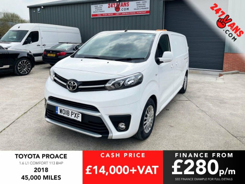Toyota Proace  1.6 L1 COMFORT 113 BHP Finance & Delivery Avai